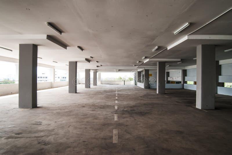 Κενή περιοχή Carpark στοκ εικόνες