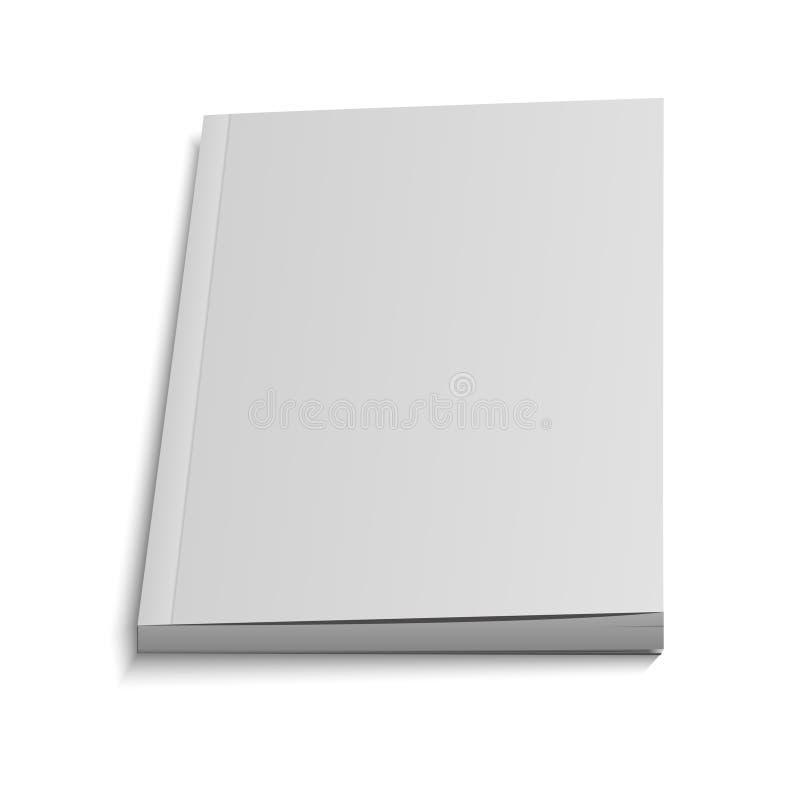 Κενή πετώντας κάλυψη του περιοδικού, βιβλίο, βιβλιάριο, φυλλάδιο Απεικόνιση που απομονώνεται ελεύθερη απεικόνιση δικαιώματος