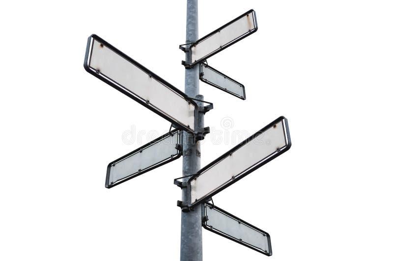 Κενή πινακίδα οδών, που απομονώνεται στο άσπρο υπόβαθρο στοκ φωτογραφία