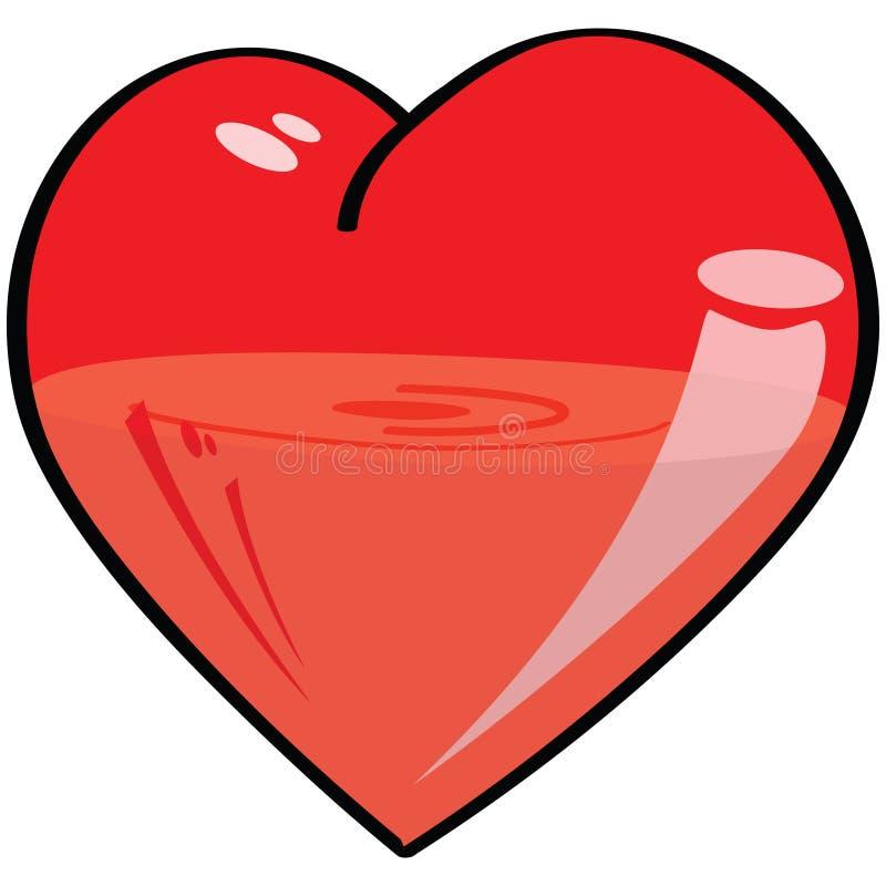 κενή πλήρης μισή καρδιά διανυσματική απεικόνιση