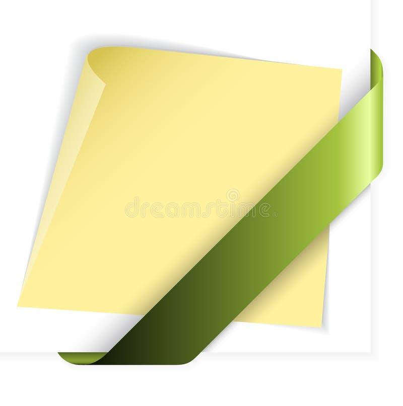 κενή πράσινη κορδέλλα εγγ