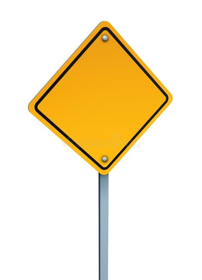 κενή προειδοποίηση σημαδιών κίτρινη ελεύθερη απεικόνιση δικαιώματος