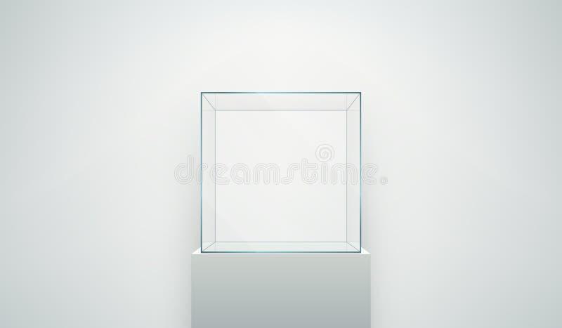 κενή προθήκη γυαλιού απεικόνιση αποθεμάτων