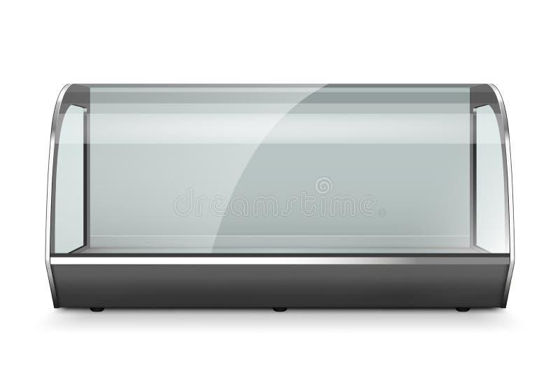 Κενή προθήκη επίδειξης ψυγείων απεικόνιση αποθεμάτων