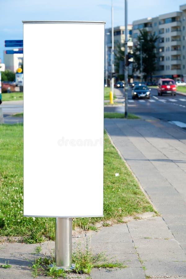 κενή πόλη πινάκων διαφημίσε&ome στοκ φωτογραφίες
