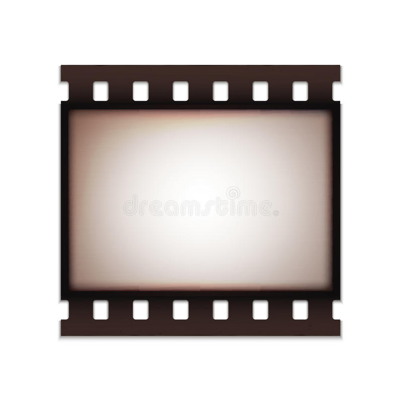 Κενή ρεαλιστική εκλεκτής ποιότητας αναδρομική παλαιά λουρίδα ταινιών διανυσματική απεικόνιση