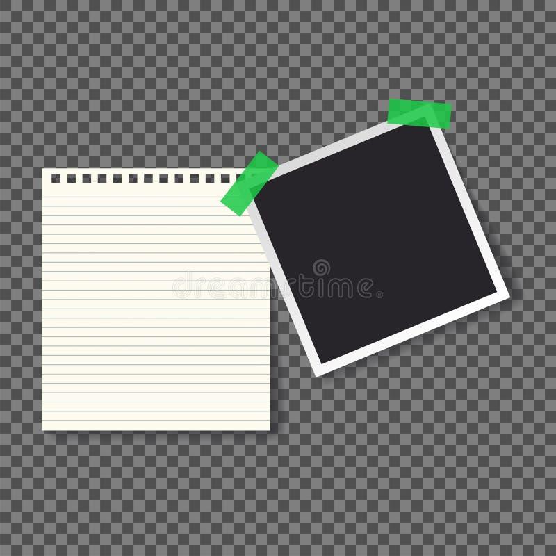 Κενή σελίδα προτύπων φωτογραφιών Polaroid μαύρη κενή απεικόνιση αποθεμάτων