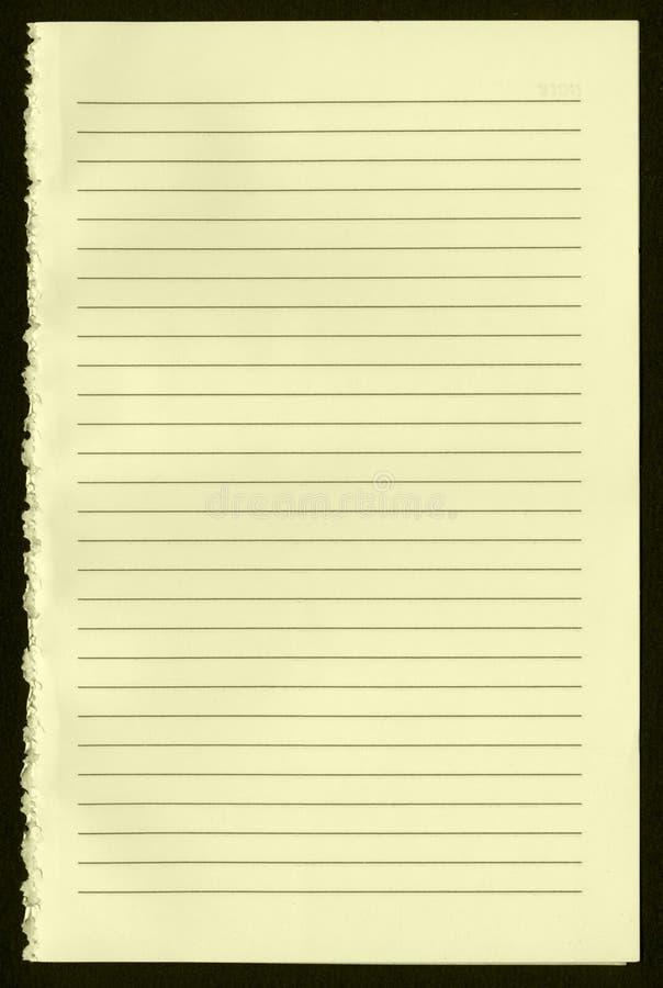 κενή σελίδα σημειωματάρι&o στοκ εικόνα