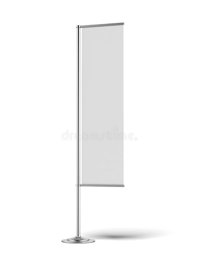 Κενή σημαία εμβλημάτων διανυσματική απεικόνιση