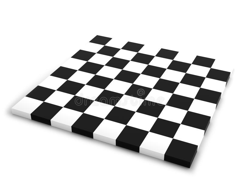 Κενή σκακιέρα στην άσπρη ανασκόπηση ελεύθερη απεικόνιση δικαιώματος