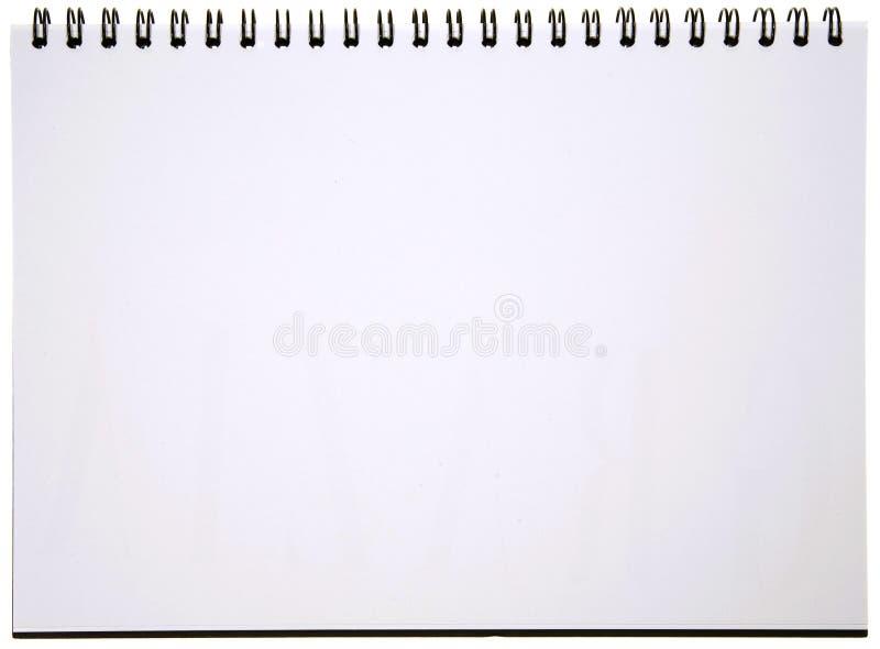 κενή σπείρα σημειωματάριω& στοκ φωτογραφία με δικαίωμα ελεύθερης χρήσης