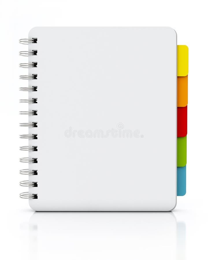 Κενή σπειροειδής στάση σημειωματάριων που απομονώνεται στο άσπρο υπόβαθρο ελεύθερη απεικόνιση δικαιώματος