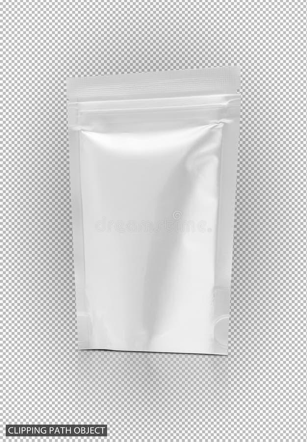 Κενή συσκευάζοντας σακούλα φύλλων αλουμινίου αργιλίου πρόχειρων φαγητών στοκ φωτογραφία με δικαίωμα ελεύθερης χρήσης