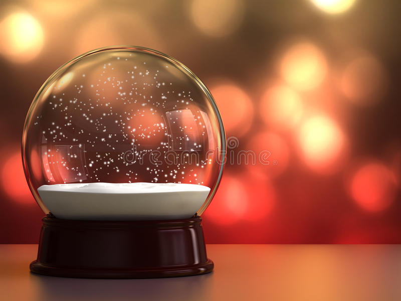 Κενή σφαίρα χιονιού διανυσματική απεικόνιση