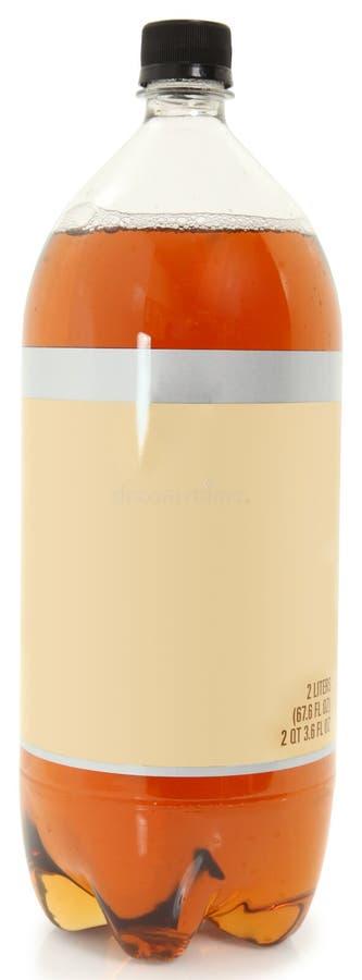 κενή σόδα ετικετών μπουκ&alph στοκ φωτογραφία με δικαίωμα ελεύθερης χρήσης