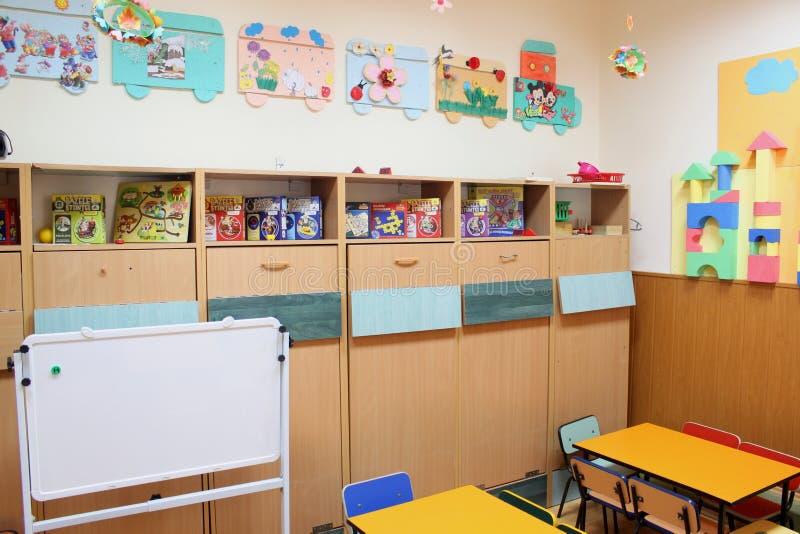 Κενή τάξη παιδικών σταθμών στοκ εικόνα με δικαίωμα ελεύθερης χρήσης