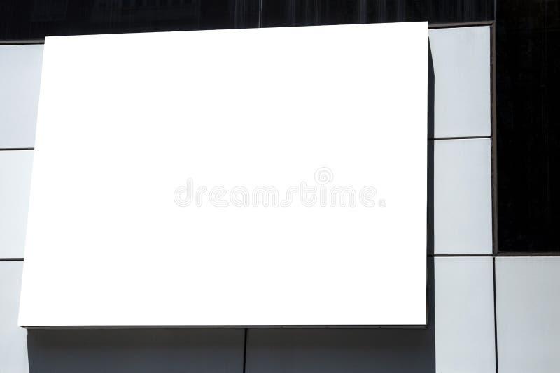 Κενή υπαίθρια διαφήμιση προτύπων με το διάστημα αντιγράφων στον τοίχο στοκ φωτογραφία με δικαίωμα ελεύθερης χρήσης
