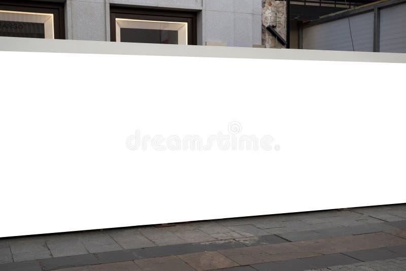 Κενή υπαίθρια διαφήμιση προτύπων με το διάστημα αντιγράφων στον τοίχο στοκ φωτογραφίες με δικαίωμα ελεύθερης χρήσης