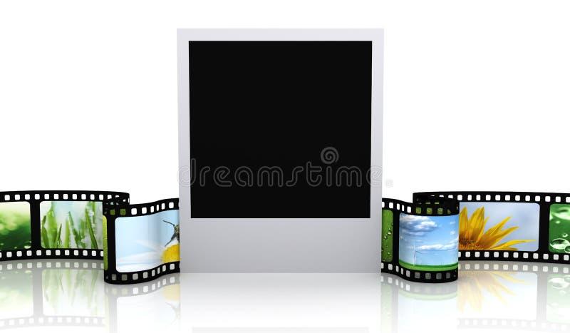 Κενή φωτογραφία με την ταινία ελεύθερη απεικόνιση δικαιώματος