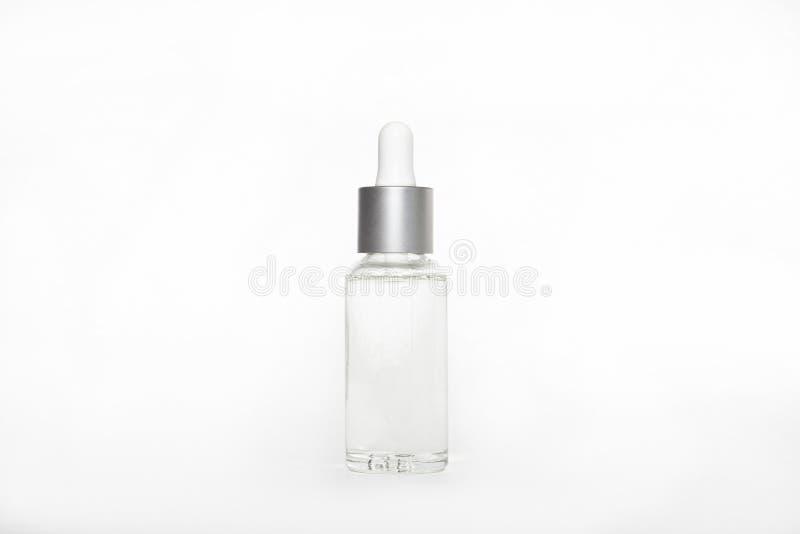 Κενή χλεύη που διαφημίζει επάνω με το διάστημα αντιγράφων του dropper μπουκαλιού στοκ φωτογραφίες με δικαίωμα ελεύθερης χρήσης