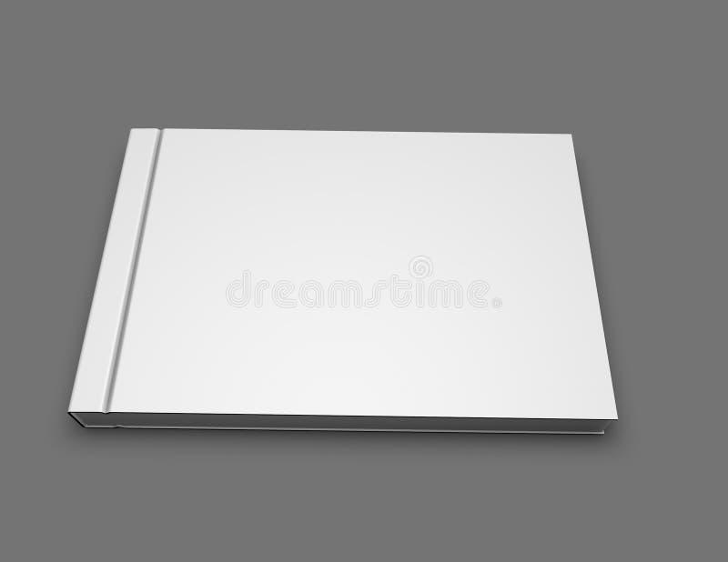 Κενή χλεύη προσανατολισμού τοπίων hardcover λευκωμάτων βιβλίων φωτογραφιών επάνω διανυσματική απεικόνιση