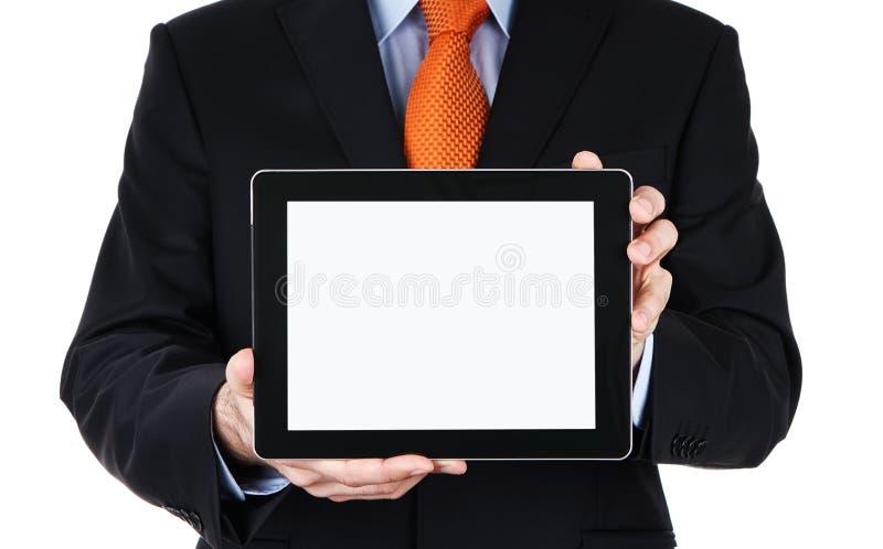 κενή ψηφιακή ανθρώπινη ταμπλέτα χεριών στοκ εικόνες