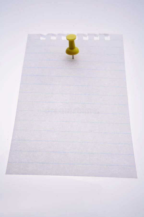 κενή ώθηση καρφιτσών σημειώσεων στοκ εικόνα με δικαίωμα ελεύθερης χρήσης