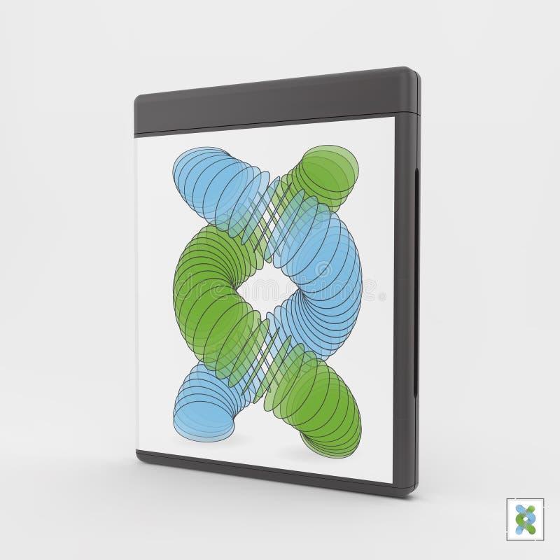 Κενή DVD-περίπτωση ή Cd-περίπτωση τρισδιάστατο διάνυσμα απ&e διανυσματική απεικόνιση