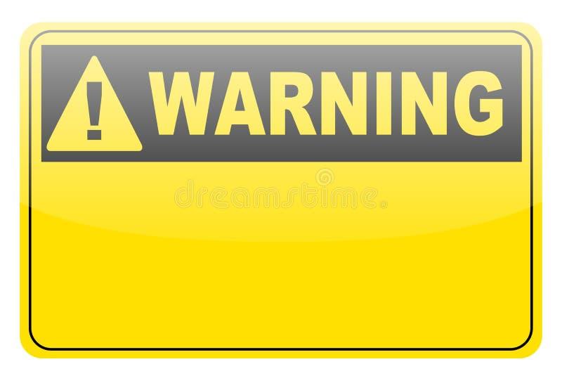 κενή lable προειδοποίηση διανυσματική απεικόνιση