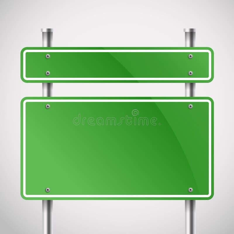 Κενοί πράσινοι πίνακες μετάλλων ελεύθερη απεικόνιση δικαιώματος
