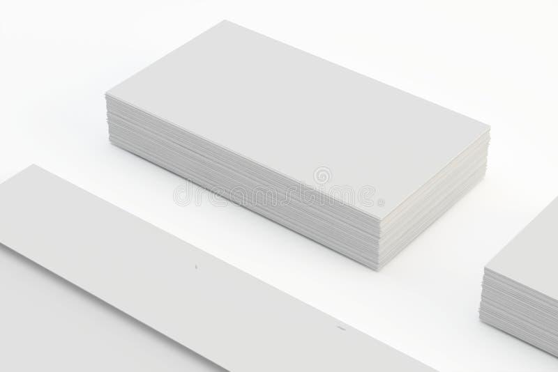 Κενοί φάκελοι και επαγγελματική κάρτα που απομονώνονται στο λευκό με τις μαλακές σκιές στοκ φωτογραφία με δικαίωμα ελεύθερης χρήσης