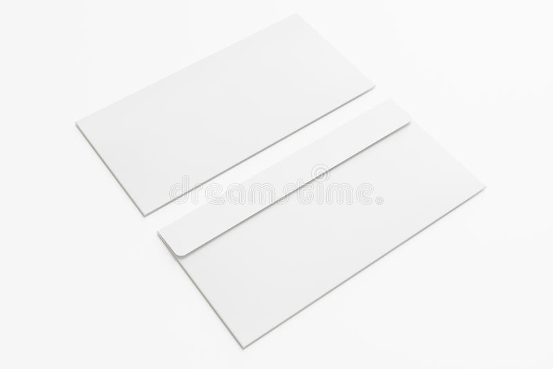 Κενοί φάκελοι στο λευκό στοκ φωτογραφίες
