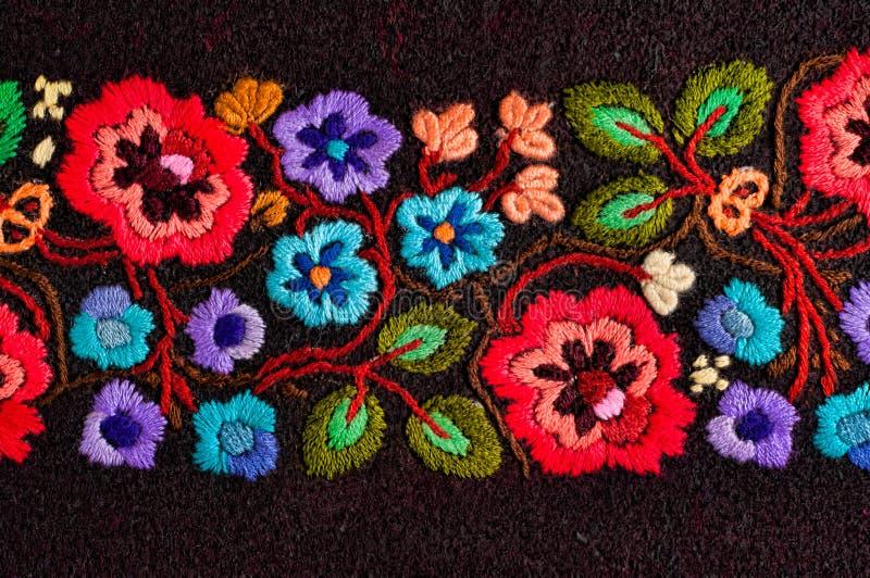 κεντημένα λουλούδια στοκ φωτογραφίες