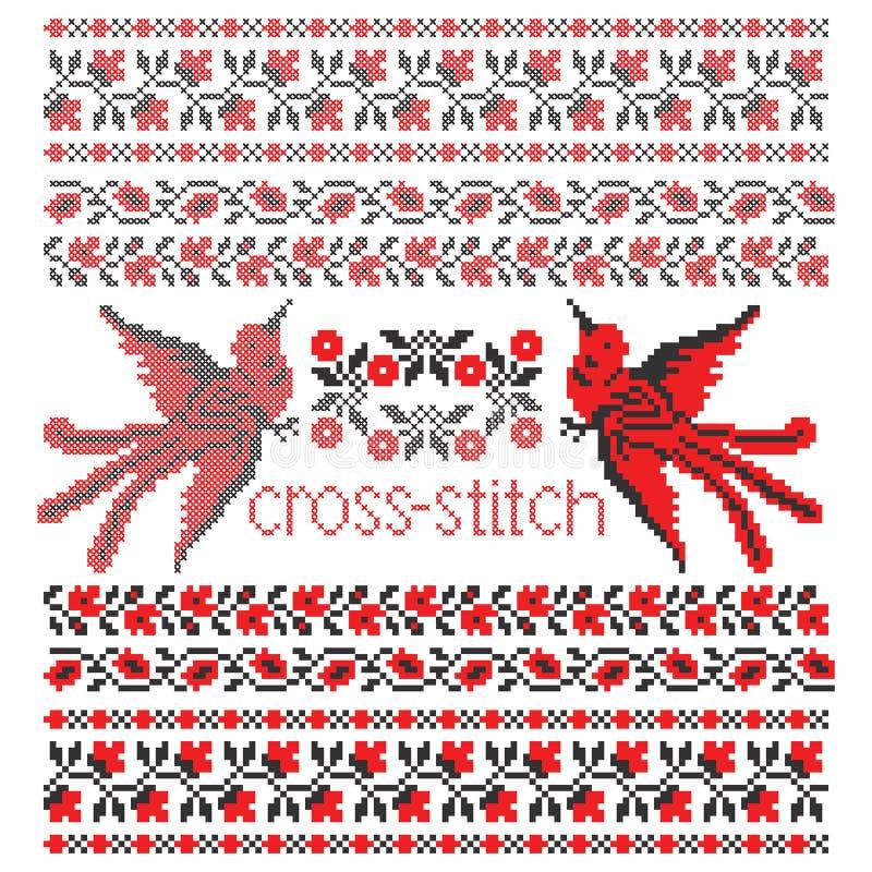 Κεντητική διαγώνιος-βελονιών πουλιών στοκ φωτογραφία με δικαίωμα ελεύθερης χρήσης