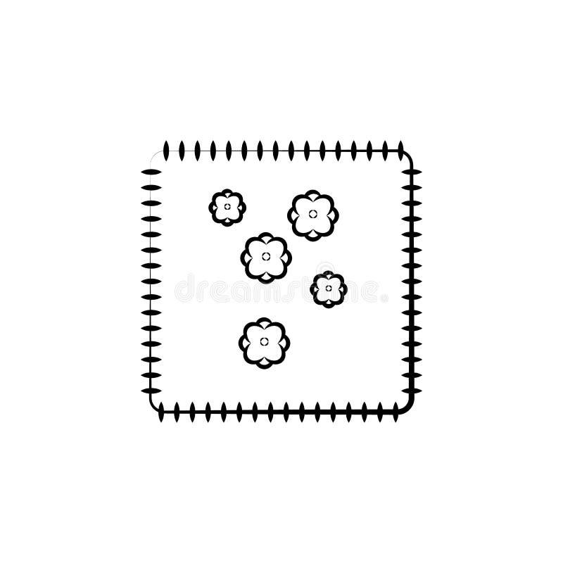 Κεντητική, μπάλωμα, εικονίδιο υφασμάτων Στοιχείο του εικονιδίου τέχνης και τεχνών Λεπτό εικονίδιο γραμμών για το σχέδιο ιστοχώρου απεικόνιση αποθεμάτων