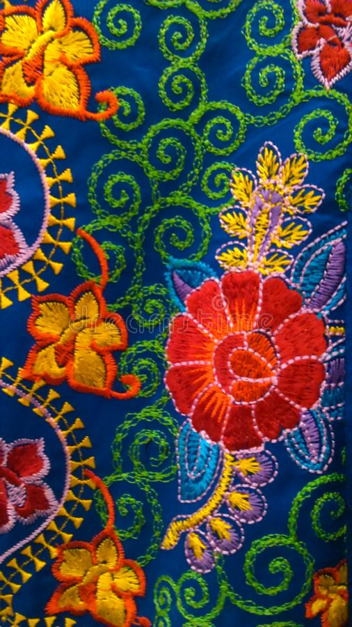 Κεντητική λουλουδιών στοκ εικόνες