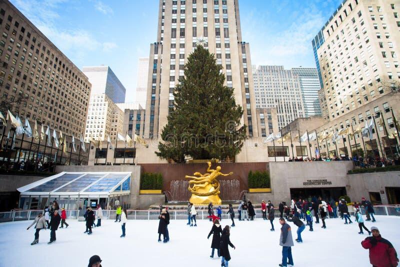 Κεντρικά Χριστούγεννα Rockefeller στοκ φωτογραφία