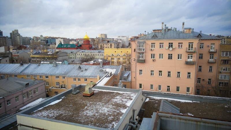 Κεντρική άποψη πόλεων της Μόσχας στοκ φωτογραφίες