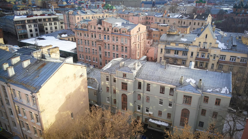 Κεντρική άποψη πόλεων της Μόσχας στοκ εικόνα
