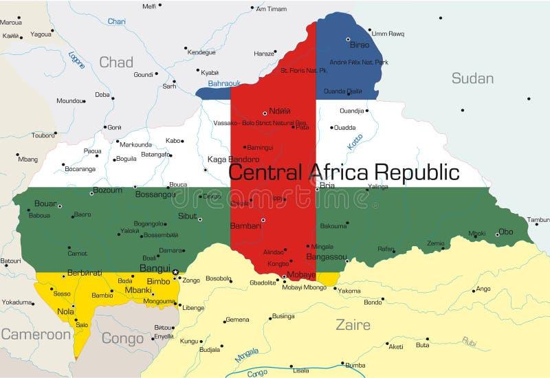 Κεντρική Δημοκρατία της Αφρικής   διανυσματική απεικόνιση