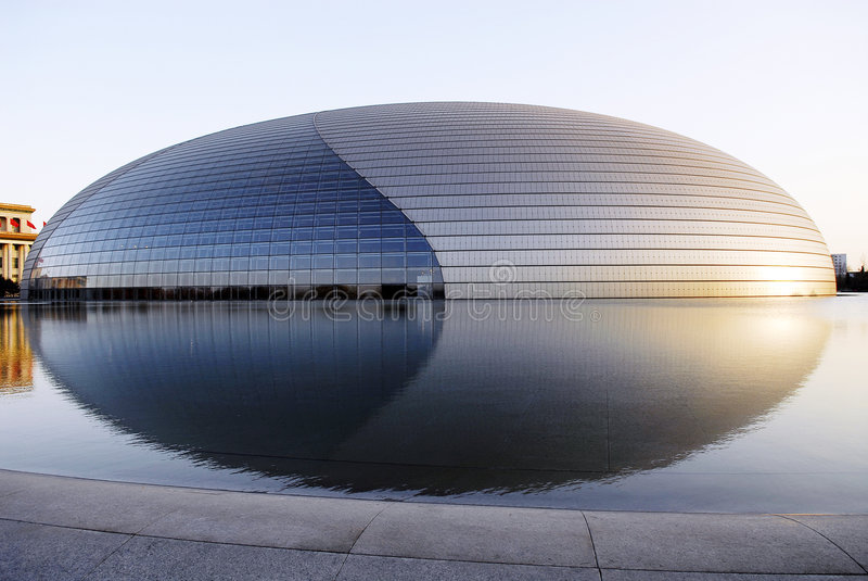 κεντρική εθνική εκτέλεση του Πεκίνου τεχνών στοκ εικόνα
