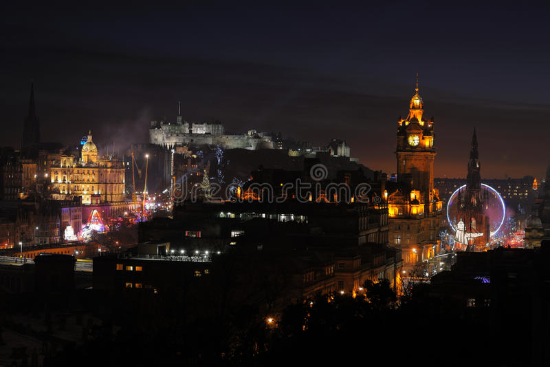 κεντρική νύχτα Σκωτία UK του  στοκ φωτογραφία με δικαίωμα ελεύθερης χρήσης