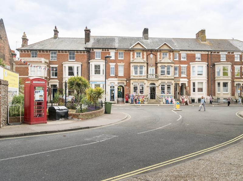 Κεντρική οδός Southwold, Σάφολκ, UK στοκ φωτογραφίες με δικαίωμα ελεύθερης χρήσης