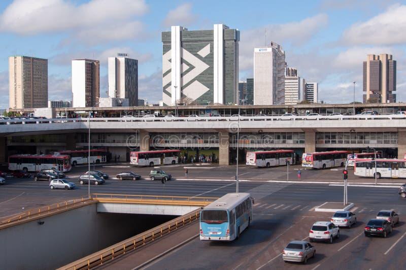 Κεντρική στάση λεωφορείου της Μπραζίλια στοκ εικόνα