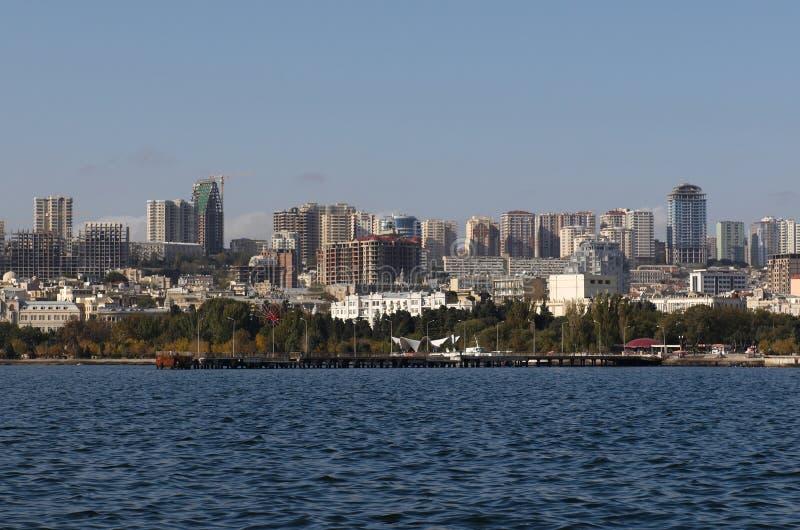 κεντρική όψη του Μπακού στοκ φωτογραφίες με δικαίωμα ελεύθερης χρήσης
