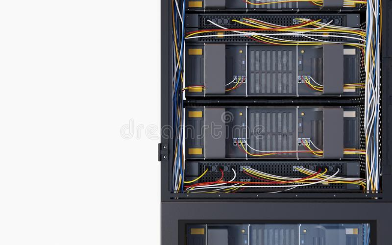Κεντρικοί υπολογιστές και φωτογραφία έννοιας τεχνολογίας υπολογιστών δωματίων υλικού στοκ εικόνες