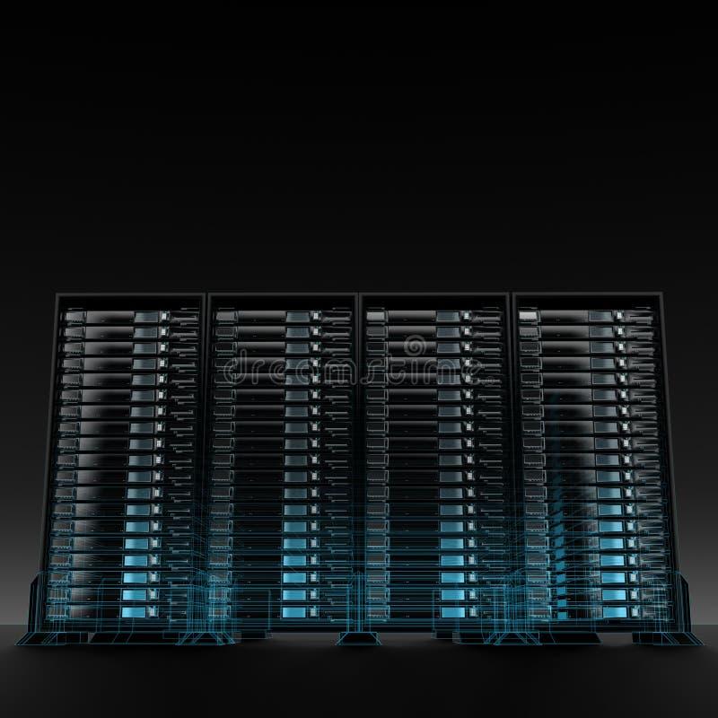 κεντρικοί υπολογιστές διανυσματική απεικόνιση