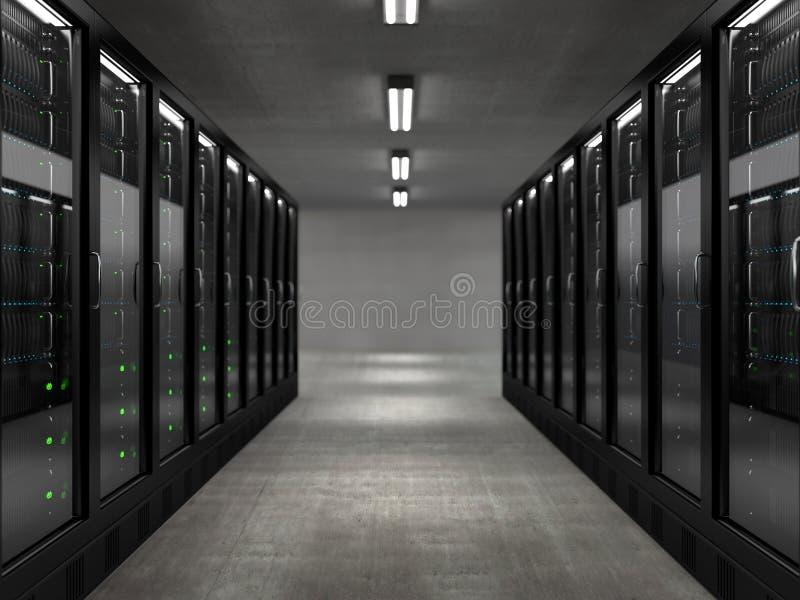 Κεντρικοί υπολογιστές ελεύθερη απεικόνιση δικαιώματος