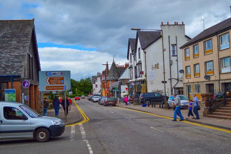 Κεντρικός δρόμος Aberfoyle, Stirling, στο σκωτσέζικο Χάιλαντς, S στοκ φωτογραφίες