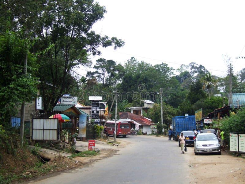 Κεντρικός δρόμος στην πόλη της Ella στοκ εικόνες